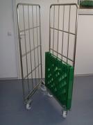 Roll container emboîtable à socle plastique - Capacité de charge : 500 kg