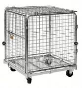 Roll container sécurisé - Capacité : 400 ou 600 Kg