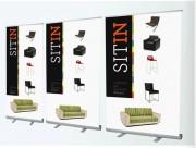 Roll up publicitaire d'affichage - 84X204 / 120X204 / 150X204 cm