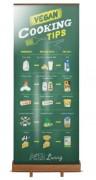 Roll up publicitaire en bambou - Dimensions  : 800 x 2060 mm
