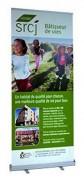 Roll up publicitaire pvc - Surface imprimable de 200x85 cm - Hauteur max. : 2 m