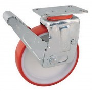 Roue roulette pivotante - Charge max.: 850 Kg - En polyuréthane ou caoutchouc