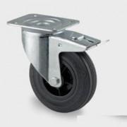 Roue tournante caoutchouc à freins - Capacité charge (Kg) : 70 - 75 - 100