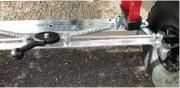 Roues arrière directionnelles brouette - Largeur totale hors tout : 75 cm