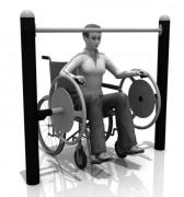 Roues musculation PMR - Espace de sécurité: 5010 x 3790 mm