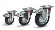 Roues pivotantes avec freins - Charge (kg)  : 100 - 135 - 205
