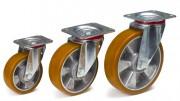 Roues pivotantes jante en aluminium - Capacité charge (kg) : 200 - 350 - 400