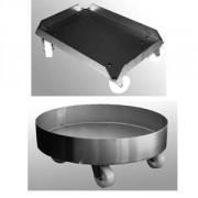 Roule bac et roule fût inox - Adaptable à tous type de produit - bacs 600X400mm ou fûts jusqu'à 200 L