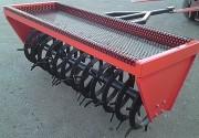 Rouleau aérateur - Rouleau spire en carré plein - Dents 100 mm - Pour prairie et verger