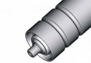 Rouleau avec cylindre en acier et 2 passages de courroie d'entraînement - Série RTS