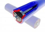 Rouleau convoyeur PEHD - Diamètres : 89x6 - 108x6 - 133x10 et 159x10