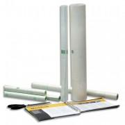 Rouleau couvre livre 0,50X20m-Repositionnable sous film rétractable-Qualité brillante-80 microns - apli_agipa