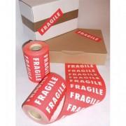 Rouleau de 1000 etiquettes imprimées fragile format 150x42,5 cm - -