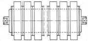 Rouleaux amortisseurs - Diamètre: 54 / 89 à 89 / 159