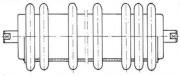 Rouleaux anticolmatants - Tube acier, bagues et manchons caoutchouc 60 Shores