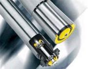 Rouleaux de convoyeur en acier - Vitesse de transport maximale : 0,8 m/s