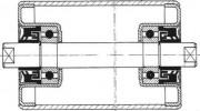 Rouleaux type mine - Diamètre: 63.5 x 2.9 à 159 x 4.5