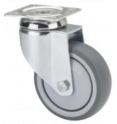 Roulette caoutchouc injecte - Capacité de charge : 100 kg