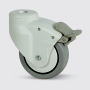 Roulette caoutchouc pour ameublement - Roulette pour ameublement 5025PJH080L51-10 RAL7035