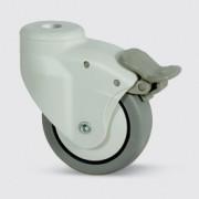 Roulette pivotante à blocage de roue - Roulette pour ameublement 5025PJH100L51-10 RAL7035