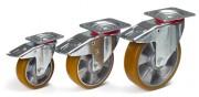 Roulette pivotante double frein - Capacité charge (kg) : de 200 à 400