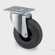 Roulette tournante caoutchouc - Capacité charge (Kg) : 70 - 75 - 100