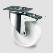 Roulette tournante polyamide à frein - Capacité charge (Kg) : 200 - 250 - 350