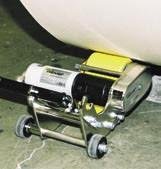 Rouleur pneumatique objet circulaire - Pour bobines de papier et tourets - Vitesse maxi :  25 m/min