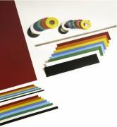 Rubans en caoutchouc magnétique - Dimensions : 0.5 x 25cm