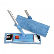 RUBBERMAID Franges bleus microfibres pour support BU400 utilisation à sec - Rubbermaid Commercial Products