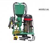 Sableuse mobile en circuit fermé - Capacité : de 20 à 40 litres - 2 modèles