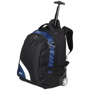 Sac à dos à roulettes - Trolley en Polyester 600D, 2264 gr, Noir / bleu