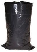 Sac à gravats noir en polypropylène recyclé - Dimensions : 600 x 850 mm
