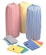 Sac à linge en polyester uni - 100%polyester uni 140g - poignée de fond extérieur - coloris: gris / marron- Volume : 70 litres soit environ 12 kg de linge.
