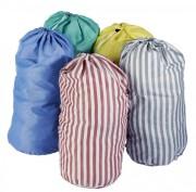 Sac à linge rayé en polyester - Volume : 70 litres soit environ 12 kg de linge - 100% polyester