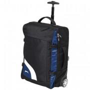 Sac à roulettes publicitaire - Gamme Trolley en Polyester 600D, 2437 gr, Noir / bleu