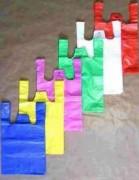 Sac plastique à bretelles - Matériau : PEHD - Opaque ou imprimé