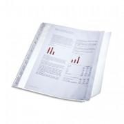 Sachet 10 pochettes perforées rabat latéral transparent. Capacité 40 feuilles, perforation 11 trous - Leitz