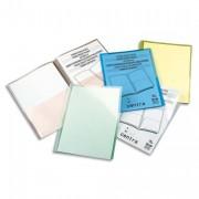 Sachet 5 chemises double poche incolore en PP 18/100e. 2 pochettes feuilles A4 ou 1 feuille A3. - Esselte
