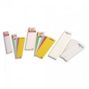 Sachet de 10 étiquettes adhésives pour classeur à levier à dos large coloris blanc - Esselte