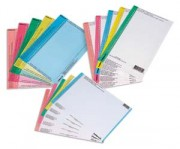 Sachet de 10 planches d'étiquettes pour dossiers tiroir bleu - L'Oblique AZ