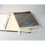 Sachet de 10 pochettes à soufflets pour revues, en PVC 18/100e, perforation 11 trous - Leitz
