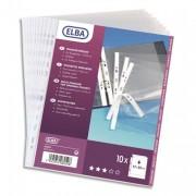 Sachet de 10 pochettes perforées SM format 21x14,8 cm en PVC 10/100e, perforation 7 trous - Elba