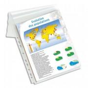 Sachet de 10 pochettes-plan, en PVC 30/100e, perforation 9 trous - Elba