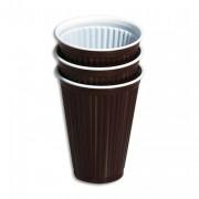 Sachet de 100 gobelets marrons spécifiques boissons chaudes - Miko