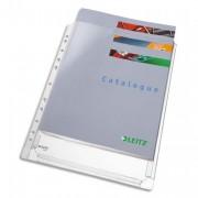 Sachet de 5 pochettes à soufflet perforées en PVC grainé 170 µ, peut contenir jusqu'à 200 feuilles - Leitz