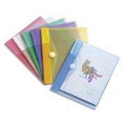 Sachet de 6 porte documents à Velcro A5 TCollection en PP 20/100e coloris assortis - TCOLLECTION TARIFOLD