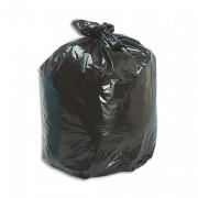SACS POUBELLES Boîte de 100 sacs poubelle 130 litres noir 52 microns