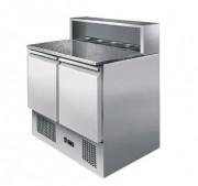Saladette à deux portes - Température : De + 2 / + 8 °C - Capacité (L) : 300