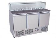 Saladette en inox à toit ouvrant - Température : De 2 / 8 °C - Capacité (L) : 380